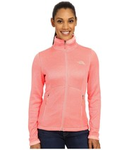 THE NORTH FACE Sale Agave Full Zip Jacket Soft Fleece Coat Neon Peach He... - $73.43