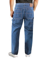 Men's Carpenter Work Jeans Hammer Loop Relaxed Fit Casual Cotton Denim Pants image 3