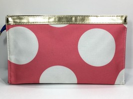 Elizabeth Arden Large Cosmetic Makeup Bag (Pink, White, Blue, gold) - $6.75