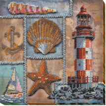 "Bead Embroidery DIY Kit ""Seven seas"" 7.9""х7.9"" - $33.95"