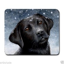 Mousepad Mouse Pad Computer Mat Dog 100 black Labrador art painting L.Dumas - $15.99