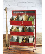 Industrial Number Iron Storage Rack Cubby Stand Floor Display w/Chalkboa... - $394.02