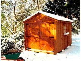 She Shed Woman Cave 8 x 12 ft Red Cedar Panelized Kit Pre-Cut and Ready ... - $5,844.76