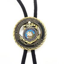 US NAVY Medal Mens Bola BOLO Tie - Wedding Necklace - Western Cowboy - $17.99