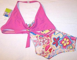 NWT Kids 'R Us Girl's 2 Pc. Pink Retro Floral Swimsuit, 16 - $8.99