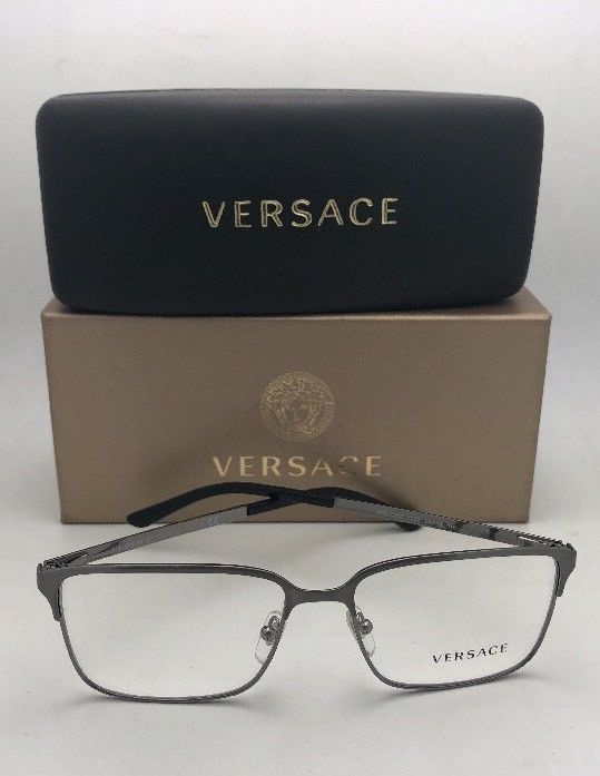 c19160695841 New VERSACE Eyeglasses 1232 1262 56-16 145 Brushed Gunmetal ...