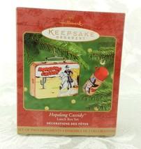 Hallmark Christmas Ornament Hopalong Cassidy Lunch Box Set 2000 - $15.83