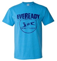 Eveready T-shirt Free Shipping distressed vintage style retro heather blue tee image 1