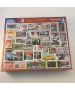 White Mountain United States Postal Service CLASSIC STAMPS Puzzle - 550 ... - $22.76