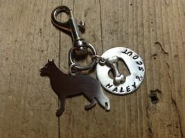 German Shepard Silver Metal Key Chain  Dog Lover ID TAG - $18.00