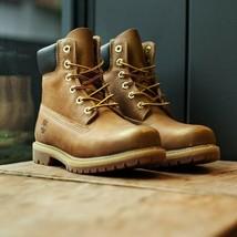 "Timberland Women's 6 Inch 6"" Metallic Finish Gold Waterproof Yellow Boots 8552B - $114.99"