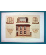 ARCHITECTURE Beautiful Color Print - VICTORIAN Studio Paris Rue Le Chate... - $35.96