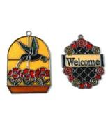 Suncatchers Hummingbird & Welcome Lot of 2 Vintage - $19.79