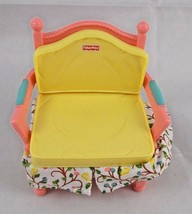 Fisher Price Loving Family Dollhouse Arm Chair Fabric Ruffle - $6.95