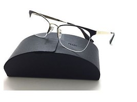 Prada Semi Rimless Gold/Brown cateye VPR 65Q DHO-1O1 Eyeglasses 53mm - $96.03