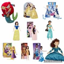 Plush Disney Movie Princesses Classic Barbie Dolls Decor Pillows Toys Pl... - $9.89+