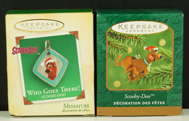Pair Hallmark Ornaments SCOOBY-DOO & WHO GOES THERE! Miniatures New in Box - $17.95