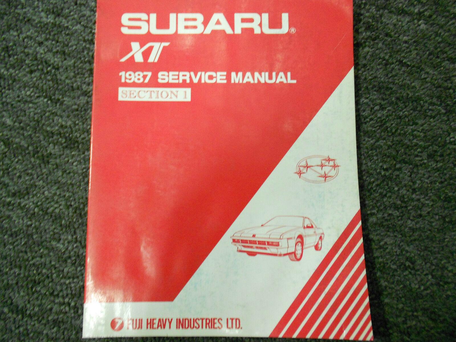 1987 Subaru XT Service Reparatur Shop Manuell Set Fabrik OEM Bücher 87 image 2