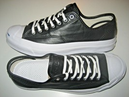 Converse Mens Jack Purcell JP Signature OX Leather Black White Shoes 149910C New - $62.99