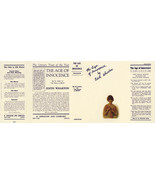 Edith Wharton THE AGE OF INNOCENCE facsimile dust jacket - $22.54
