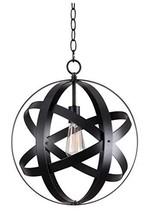 Kenroy Home 93551BLK Global 1 Light Pendant, Black - $139.09