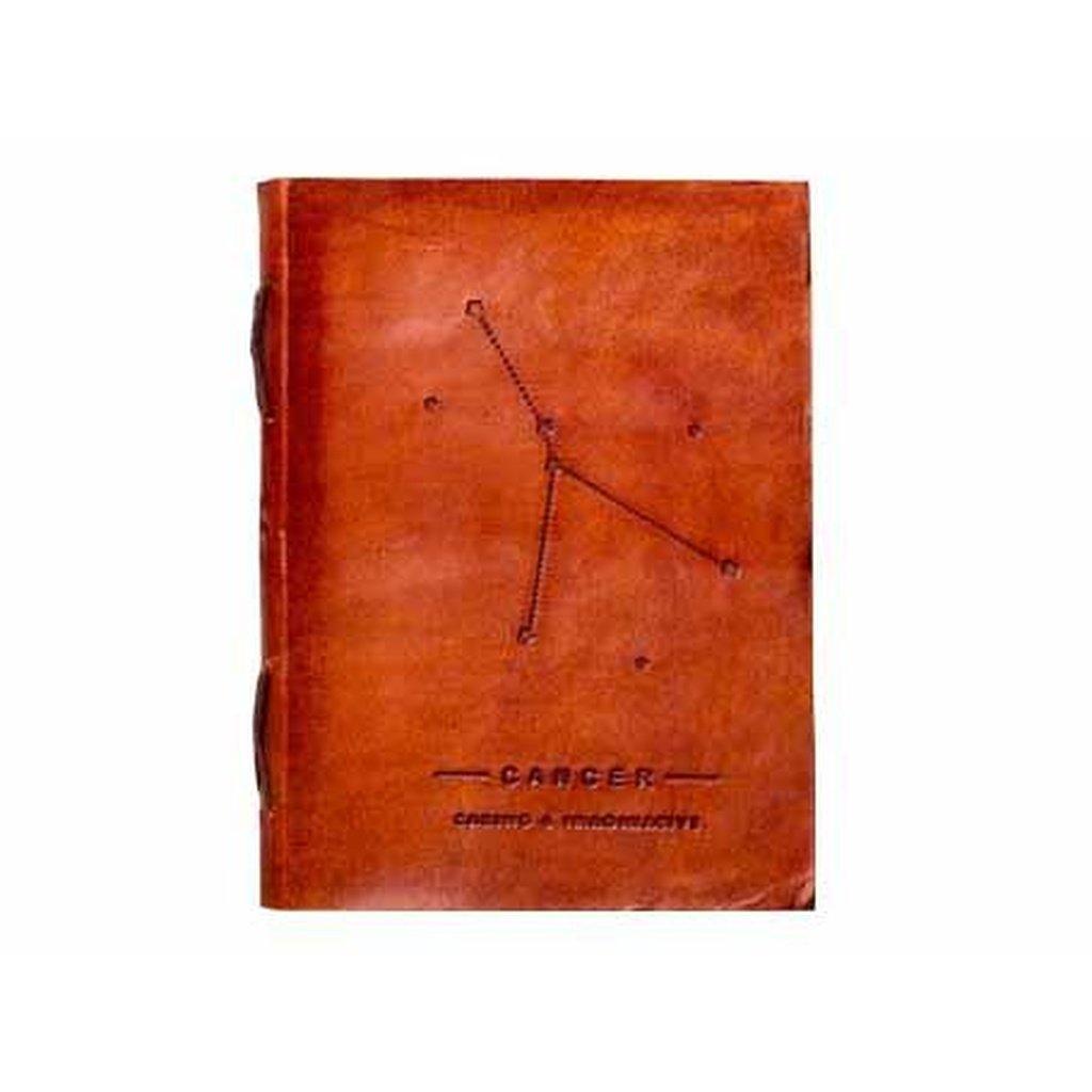 Cancer Zodiac Handmade Leather Journal