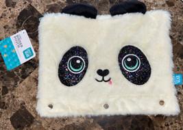 Pen+Gear 3-Ring Soft Plush Panda Binder Pencil Pouch with Glitter Eyes F... - $7.92