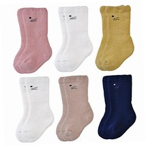 Epeius UNewborn Cartoon Socks for 0-6 MonthWhite/Pink/Navy/Beige/Yellow, XS - $7.82