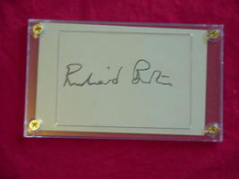 RICHARD BURTON  Authentic Signed 3x5 Signature Cut w/Certificate of Authenticity - $125.00