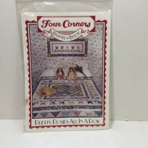 """Pretty Posies All in a Row Quilt Pattern Four Corners 74"""" x 74"""" - $11.64"""