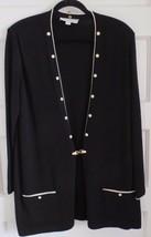 St John Collection by Marie Gray Women's Knit Black Jacket Size L - $98.01