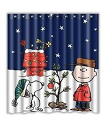 Eaiven Snoopy Christmas Shower Curtain, Funny Charlie Brown Waterproof S... - $42.99