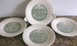 "Homer Laughlin Pastoral Pattern 4 Bread Butter/Dessert Plates 6.75"" VG Condition - $19.79"