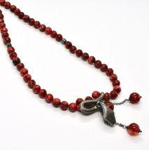 925 Silberne Halskette mit Schlange Brüniert und Jaspis, Made in Italy By image 6