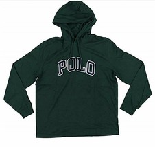 POLO RALPH LAUREN Big & Tall Mens Green Letterman Hoodie L/S T-Shirt NWT... - $56.30 CAD