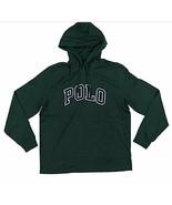 POLO RALPH LAUREN Big & Tall Mens Green Letterman Hoodie L/S T-Shirt NWT... - $42.73