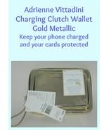 Adrienne Vittadini Charging Clutch Wallet Gold Metallic  - $30.00