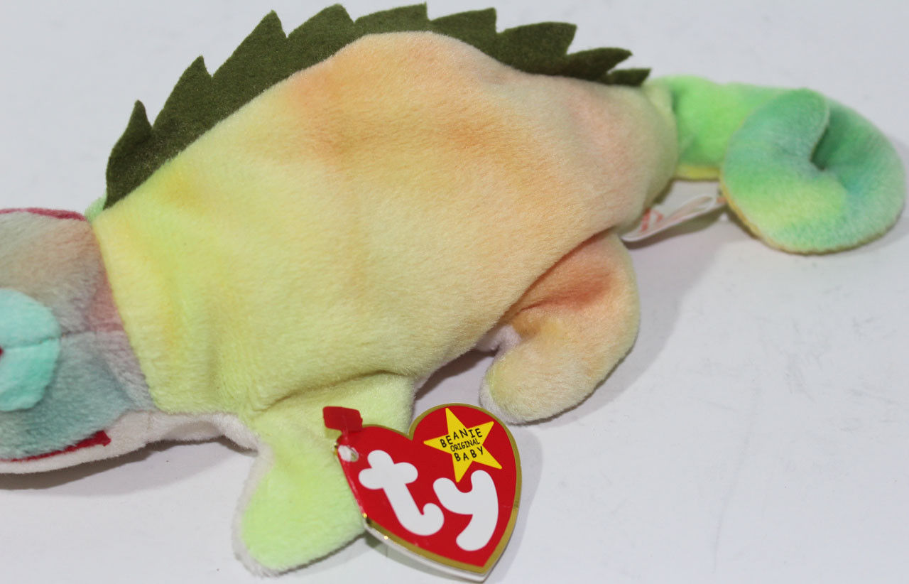2f6afd3187b ... 1997 Ty BEANIE BABIES ORIGINAL IGGY IGUANA ERRORS on TAGS Retired RARE  PLUSH ...