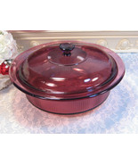 Vintage Corning Ware Cranberry Visions Covered Casserole, 1 Liter or Qua... - $29.99