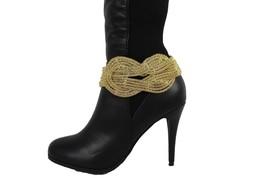 Donna Western Scarponcini Alla Moda Bracciale Oro Metallo Tracolla a Catena - $30.32