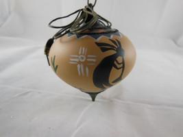 "WOW! Kokopelli Hand Painted Glass Christmas Ornament aprox 3.5"" Southwestern ART - $19.79"