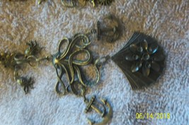 #purse jewelry bronze color keychain backpack filigree charms lot of 3 floral 21 image 2