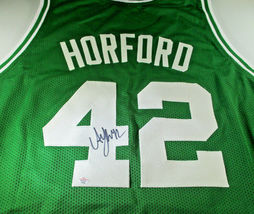 AL HORFORD / 5 X NBA ALL-STAR / AUTOGRAPHED BOSTON CELTICS CUSTOM JERSEY / COA image 1