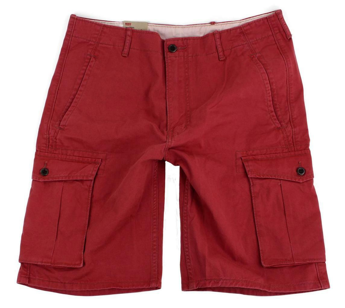 BRAND NEW NWT LEVI'S MEN'S COTTON CARGO SHORTS RELAXED FIT PINK 124630167