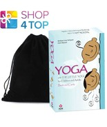 YOGA WITH THE LITTLE YOGI CARDS BOOK SET GAMES AND EXERCISES  AGM VELVET BAG - $37.02