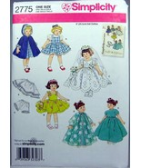 "Simplicity Sewing Pattern 2775 Wardrobe For 8"" Dolls New Uncut - $12.86"