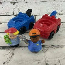 Fisher Price Little People Tow Trucks & Drivers Blue Red - $15.84