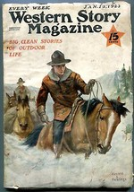 Western Story Magazine Pulp January 13 1923- Hastings cover VG+ - $107.19
