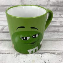"M&M Green Coffee Mug ""I Melt For No One"" 2019 Frankford Candy 16oz - $12.13"