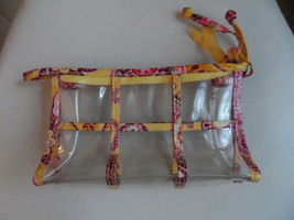 Vera Bradley Clear Cosmetic in Bali Gold - $12.00